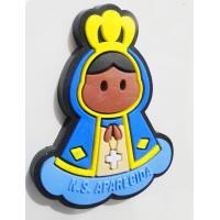 1671 - Imã de Geladeira em Borracha Nossa Senhora Aparecida. Venda com 3 Unidades. R$ 2,80 a Unidade.