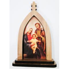 2080 - Modelo B - Capela Sagrada Família em Madeira Mdf 16 cm