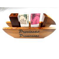 1209 - Preciosas Promessas Barco em Madeira