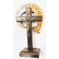 2831 - Crucifixo em Madeira Para Mesa 12 cm da RCC