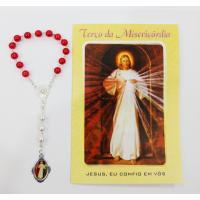 1150 - Dezena Da Misericórdia Com Medalha e Folheto