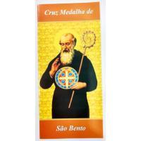 1524 - Folheto Cruz Medalha de São Bento - Venda com 25 Unidades. R$ 0,32 a Unidade.