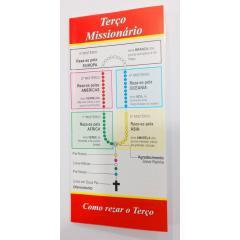 198 - Folheto Terço Missionário - Pacote com 25 Unidades. R$ 0,50 a Unidade.