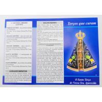 2458 - Folheto N. Sra Aparecida - Terços que Curam - Venda com 25 Unidades. R$ 0,42 a Unidade.