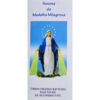 2580  - Folheto- Novena da Medalha Milagrosa. Vendido com 25 unidades. R$ 0.48 a Unidade.