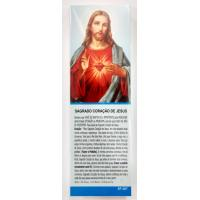 1307 - Marca Página Sagrado Coração de Jesus com Oração e com 50 Unidades. R$ 0,25 a Unidade.
