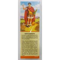 324 - Marca Página Santo Expedito com Oração e com 50 Unidades. R$ 0,25 a Unidade.