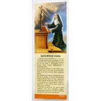 471 - Marca Página Santa Rita de Cassia Com Oração com 50 Unidades. R$ 0,25 a Unidade.