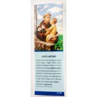 563  - Marca Página Santo Antônio com Oração e com 50 Unidades. R$ 0,25 a Unidade.