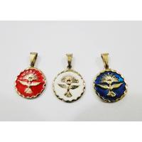 2147 - Medalha em Metal Esmaltado Espírito Santo 1,5 x 1,5 cm.