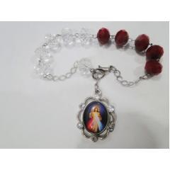 1535 - Pulseira da Misericórdia Contas em Cristal e Vidro