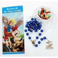 819 - Terço São Miguel com Folheto Colorido